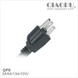 乔普-日本PSE认证电源线插头QP6